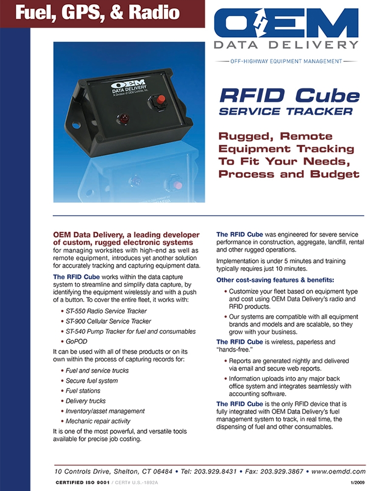 ST-570 RFID Cube Data Sheet